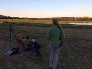 Waiting for whoopers with Claire Timm and Ann Morrow