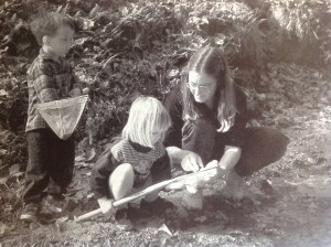 David Canter (2), Anna Morrow (3), and me, Koucky Creek, about 1990