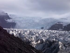 Majestic glacier, slipping into the sea