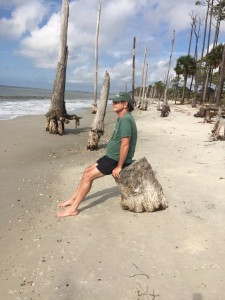 Jeff keeping vigil on the Boneyard Beach
