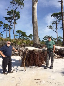 Dr Orrin Pilkey and Dr.Jeff Chanton at Stump Hole